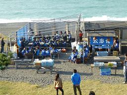 片浜海岸でバーベキュー
